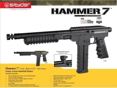 Spyder Hammer 7 - mag feed pump action marker - display model