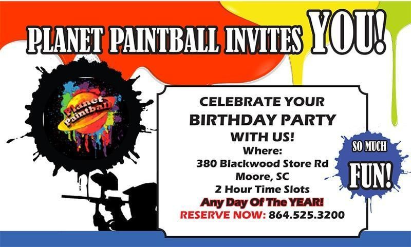 """Private """"Pee Wee"""" 6 Player Party - Park Admission, .50 Caliber Rentals, Paintball Goggles"""
