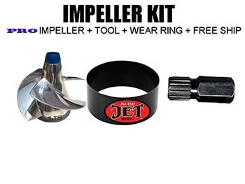 PRO 11-19 Impeller Performance KIT Sea Doo impeller GTX 155 2010-up, GTX-S 155 10-up​