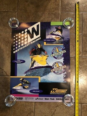 1995 West Coast Racing Tour Poster Chris Fischetti