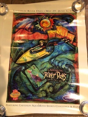 1997 Laughlin Aqua Moto Poster River Days