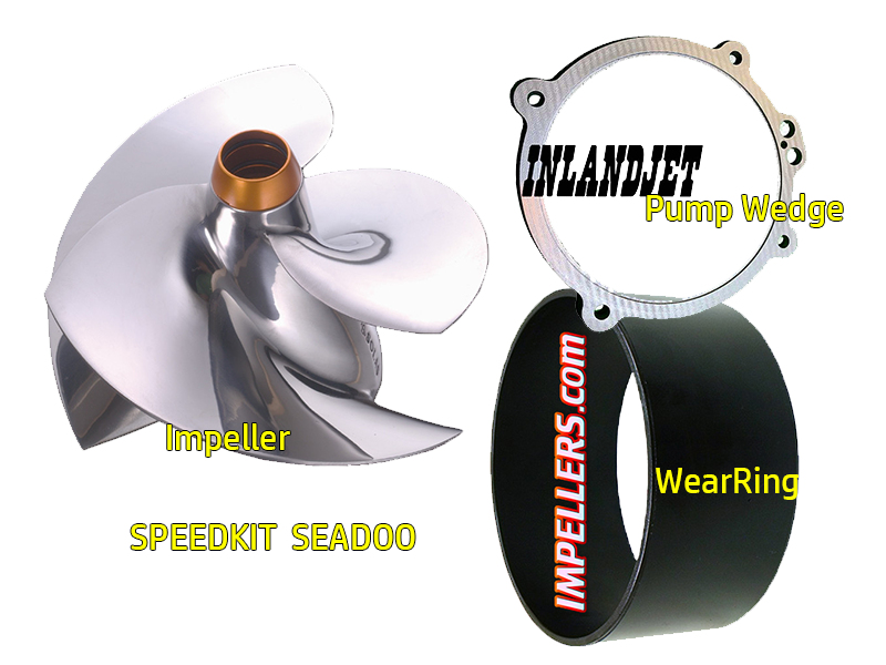 SPEED KIT Impeller/Wedge/Ring Sea Doo RXP-X 08, RXT-X 08, RXP 215 04-08