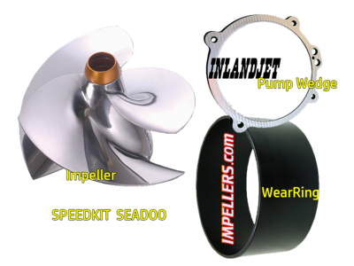SPEED KIT Sea Doo 260/255 RXP/RXT/GTX/X Impeller/ring/wedge