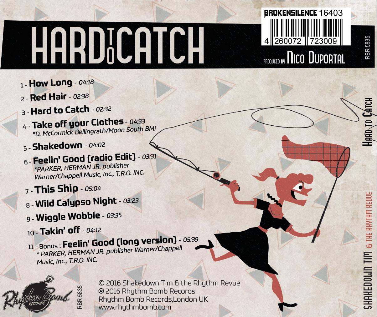 "CD: SHAKEDOWN TIM & THE RHYTHM REVUE:  ""HARD TO CATCH"" (2016)"