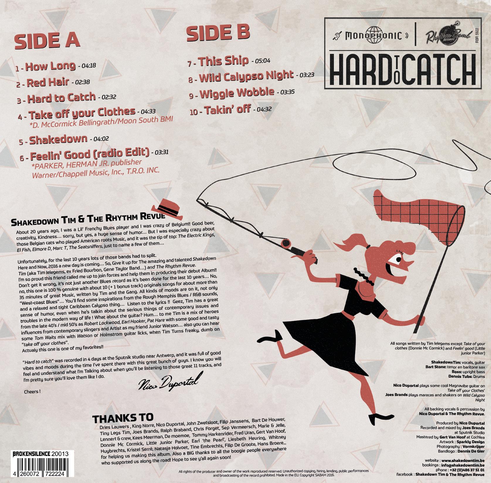 "LP: SHAKEDOWN TIM & THE RHYTHM REVUE:  ""HARD TO CATCH"" (2016)"