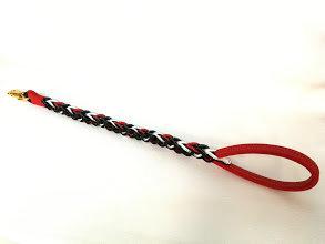 Guinzaglio a treccia  80 cm (f.red) / Braided leash 31,50 inches