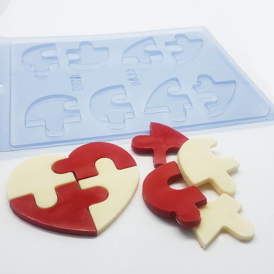 Heart Puzzle Chocolate Mold