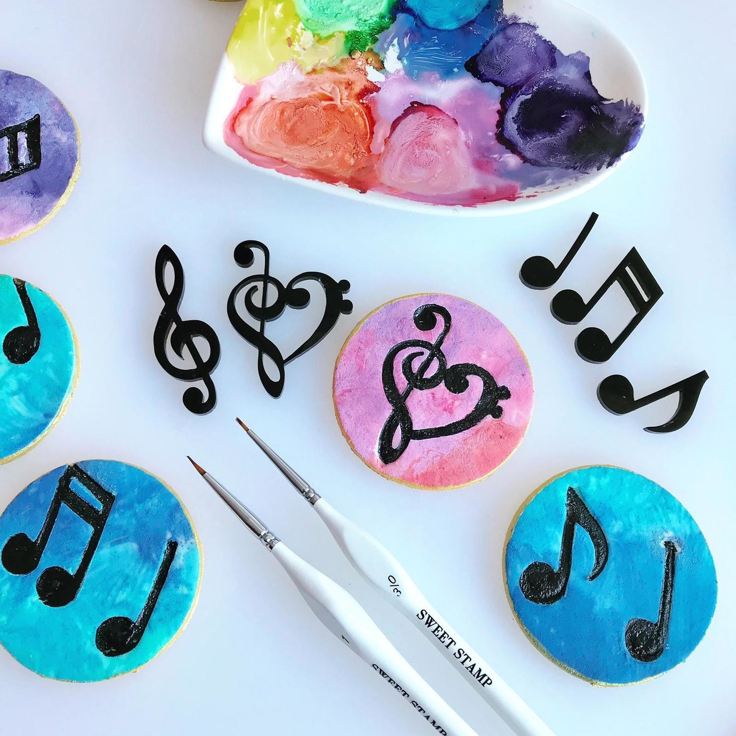 Sweet Stamp Music Note Elements