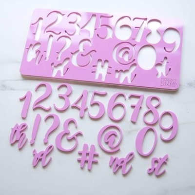 Sweet Stamp Elegant Set (Numbers & Symbols)