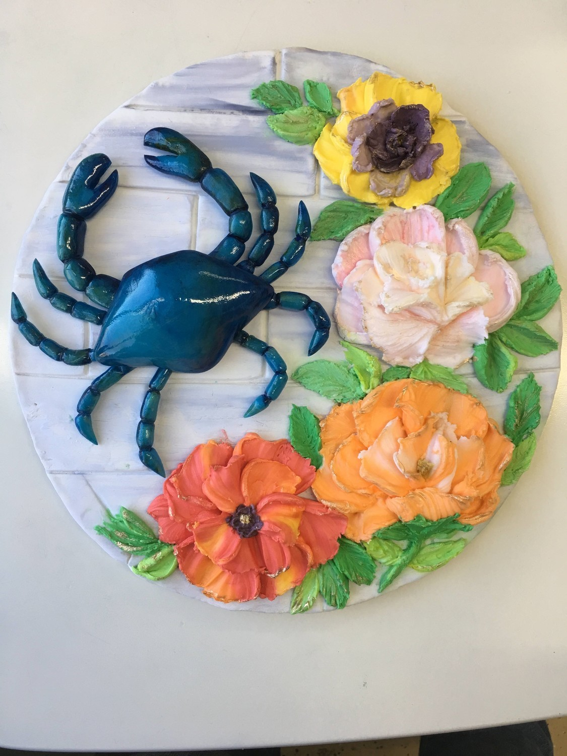 """Isomalt Crab with Pallet knife Buttercream Flowers"" with Chef Vanessa Greeley Spring 2020 all Inclusive Time/ TBA"