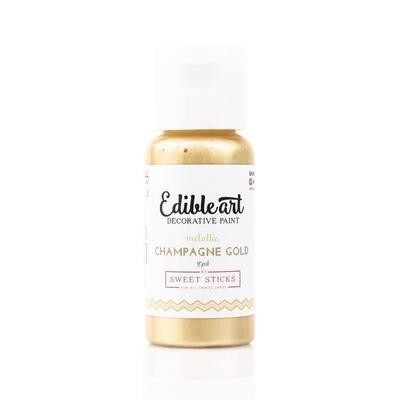 Metallic Champagne Gold Food Paint