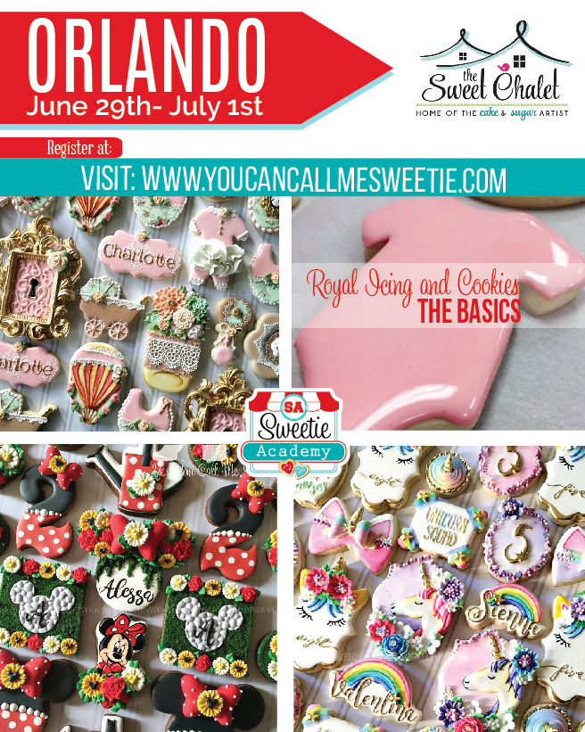You Can call me Sweetie is coming to TSCS - June 29- July 1 for a variety of amazing Cookie Classes just for you! $85 up  Registration is open at Sandy's website: https://www.youcancallmesweetie.com