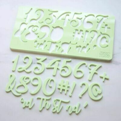 Sweet Stamp Curly Set (Numbers & Symbols)