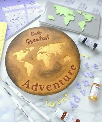 Sweet Stamp Great Adventure World Map Elements