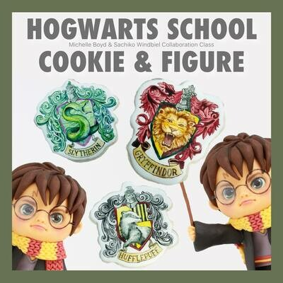 FULL DAY #1: Hogwarts Cookie & Character Figure Class! Two separate Classes: 4 hours each combined in 1_FULL DAY CLASS! special Price $340 Saturday Oct. 26 All Day!