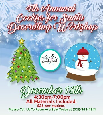 4th Annual Cookies for Santa Decorating Workshop for Kids!