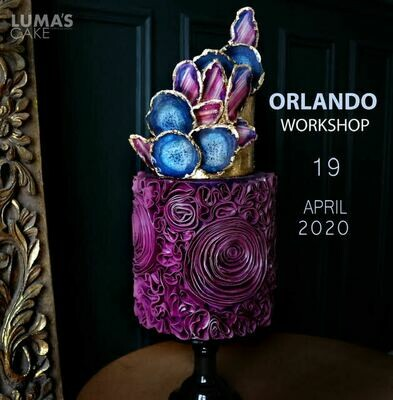 MODERN AGATE and Ruffle Cake Workshop with Lumas Cakes on April 19th at TSCS. All-inclusive $395