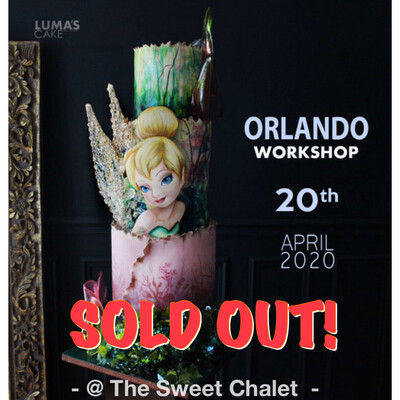 SOLD OUT! The Tinkerbell Cake with Lumas Cakes on April 20th SOLD OUT!!!