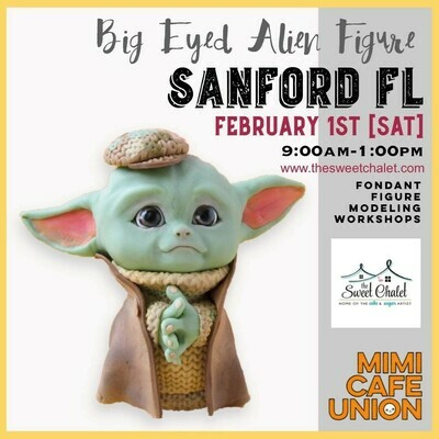 Big Eyed Alien Figure! Amazing semi-private 4 hours workshop, with the talented Sachiko. Saturday, Feb 1st, 9 am-1pm Open to all levels. Only $200  All materials included! Don' Delay