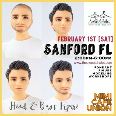 Man Head & Bust Figure Saturday, February 1st  2:00 pm to 6:30 pm (4+hrs. workshop) $200 PP