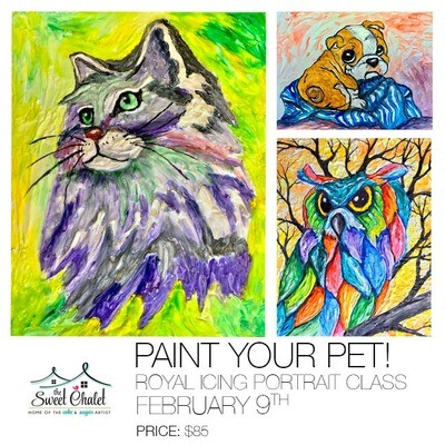 Paint Your Pet: An Edible Royal Icing Portrait Class on February 9th