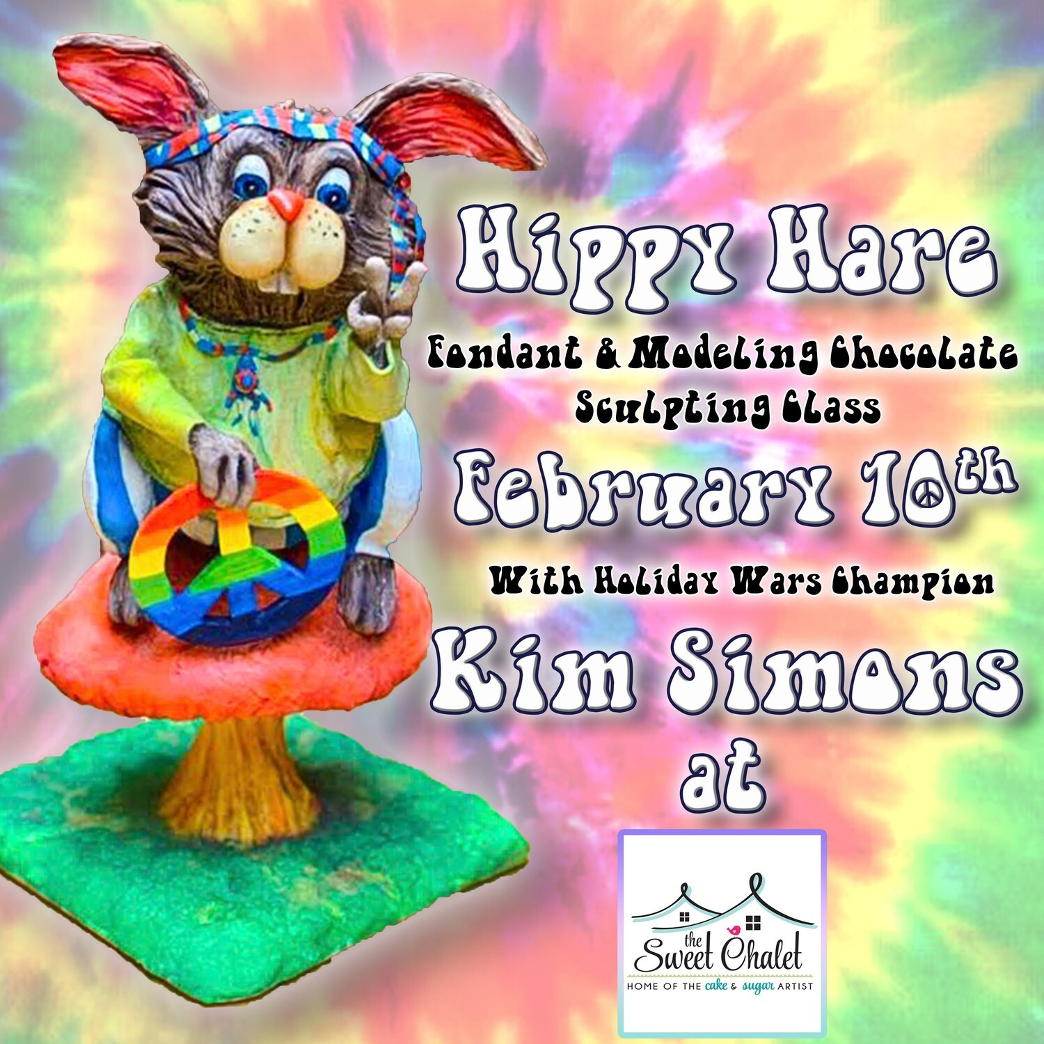 Hippy Hare: Fondant and Modeling Chocolate Sculpting Class on February 10th
