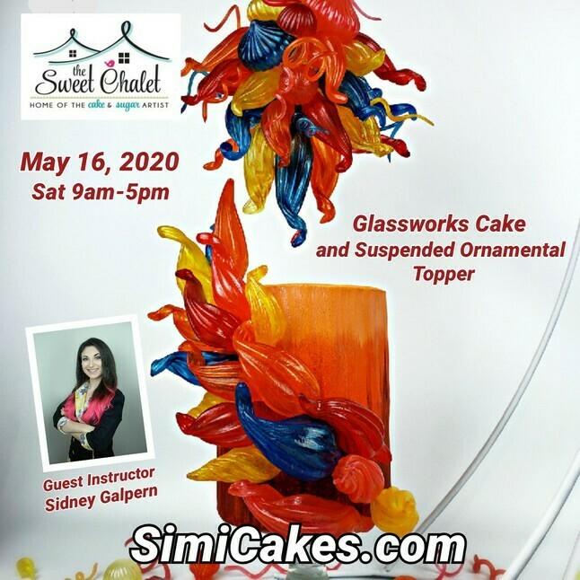 Isomalt GlassWorks Cake & Topper Class NEW DATE JUNE