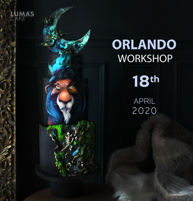 SOLD OUT!!!!! SCAR from The Lion King  Cake Hands-On Workshop on April 18th with Lumas Cakes. All-Inclusive $395 per student!
