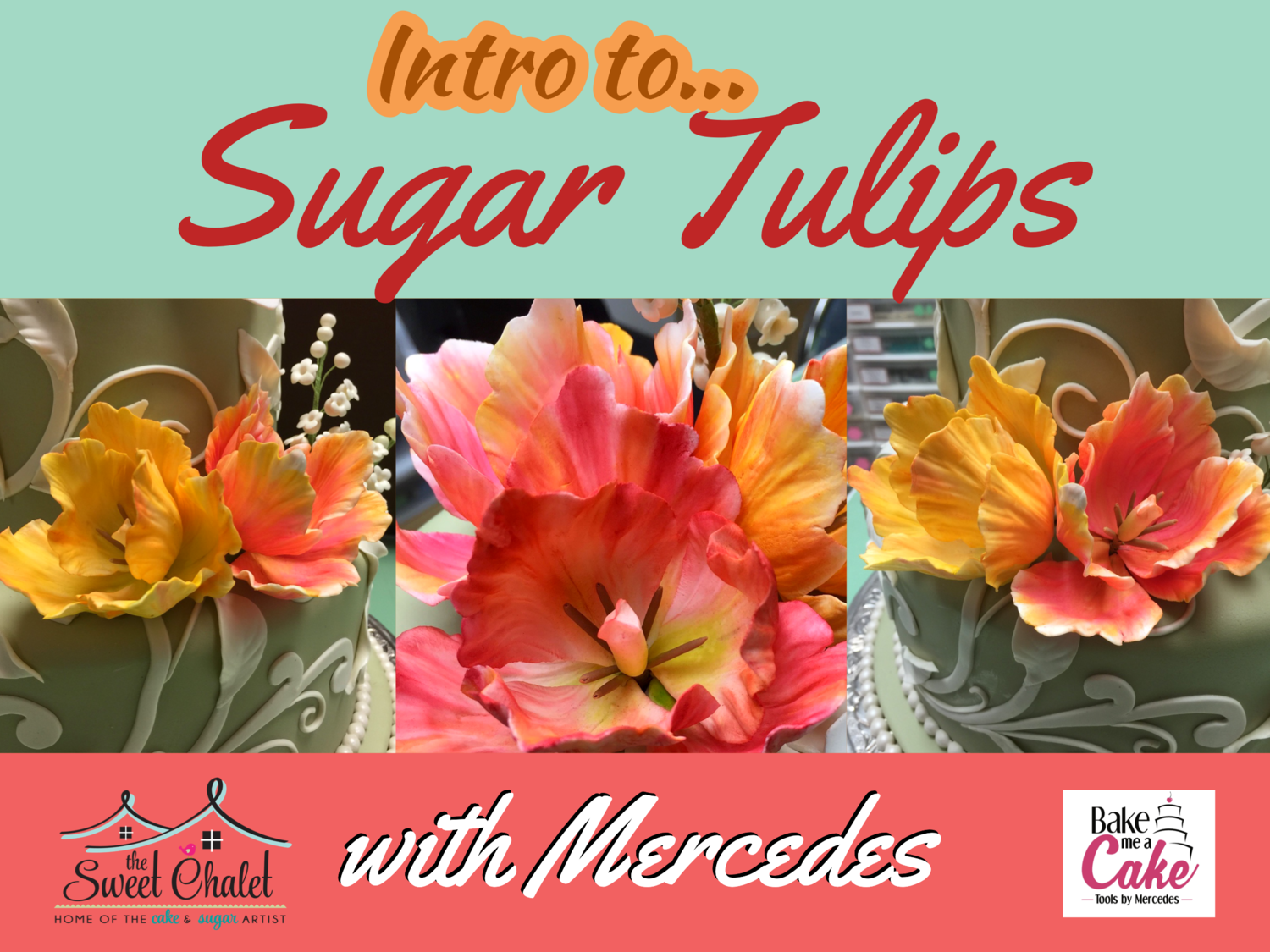 Introduction to Wired Sugar Flowers: Parrot Tulips with Master Cake Artist Mercedes Strachwsky on March 15th from 1pm-6pm
