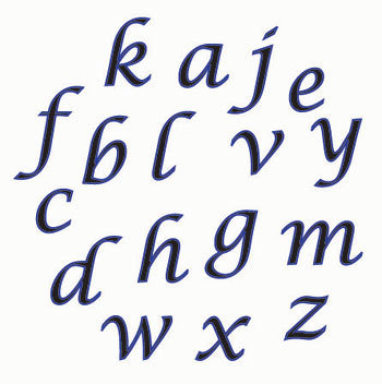 FMM Script Alphabet LC