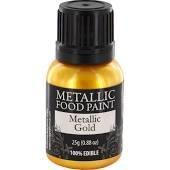 Rainbow Dust Metallic Food Paint Gold