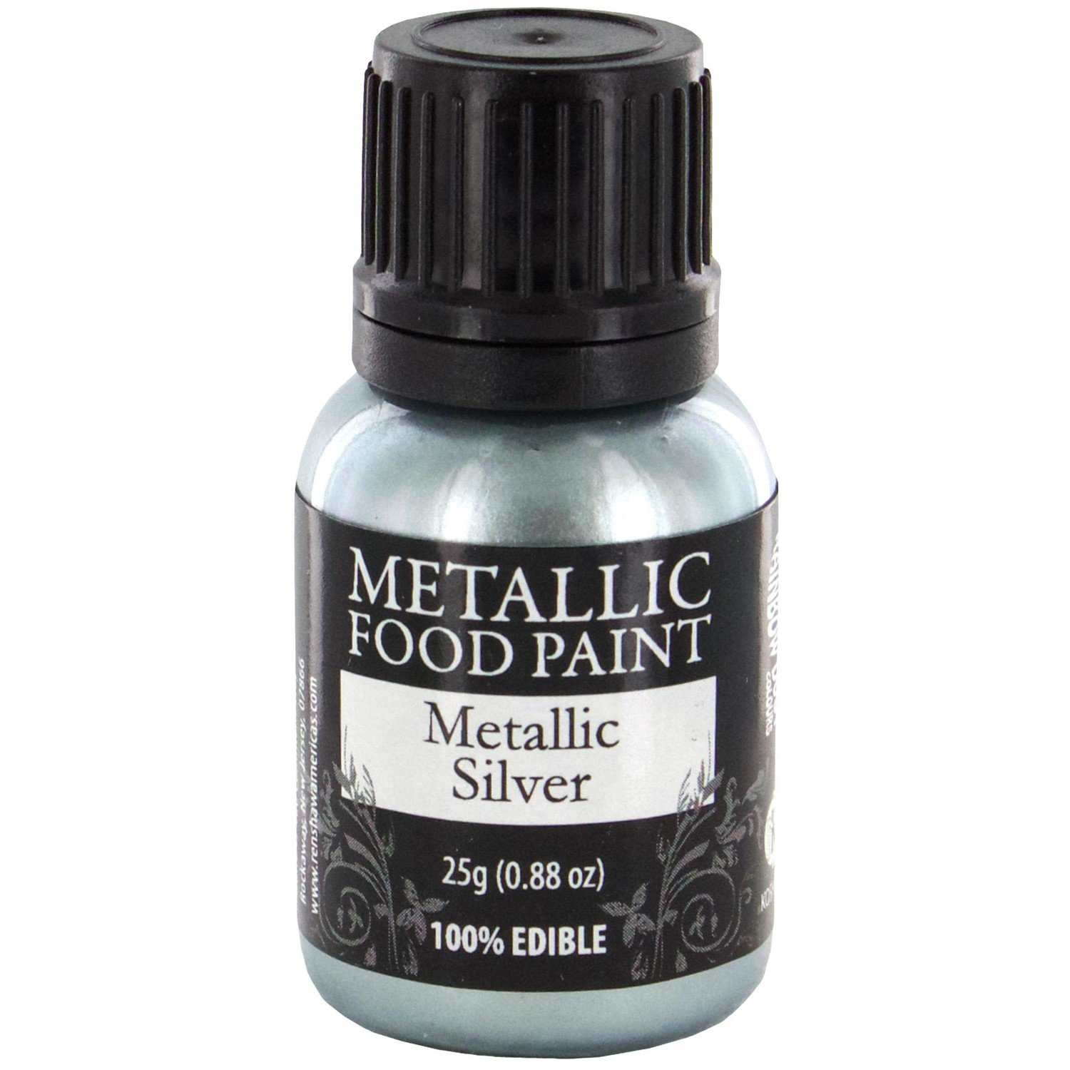 Rainbow Dust Metallic Food Paint Silver