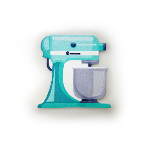 Turquoise Mixer Sticker