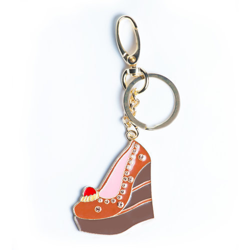 Triple Chocolate Cake Wedge Charm