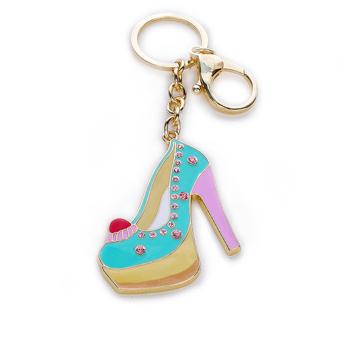Teal/Pink Cake Heel Tote Bag Charm