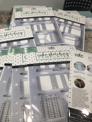 Cake Sketching Templates SET of 4 basics