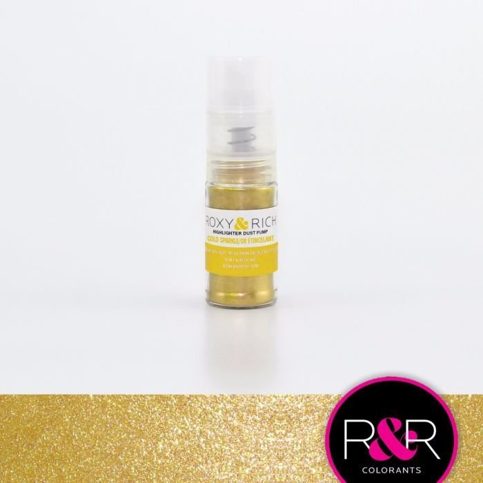 R&R Gold Sparkle Highlighter Dust Pump