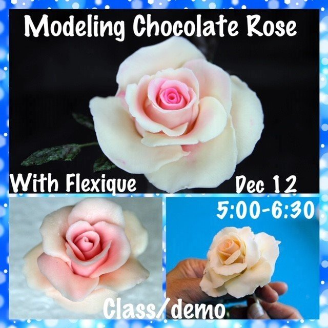Modeling Chocolate Holiday Roses FREE DEMO Wednesday Dec 12 @ 5:00pm