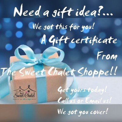 Gift Certificates! $25; $50; $75: $100 or more
