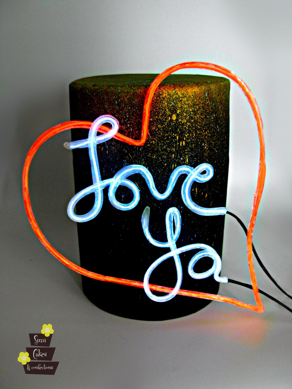When SWEET ART meets Science! Isomalt Neon Sign-Class with Sidney Galpern Saturday, April 6, 2019 from 1:00pm to 5:00pm all inclusive.