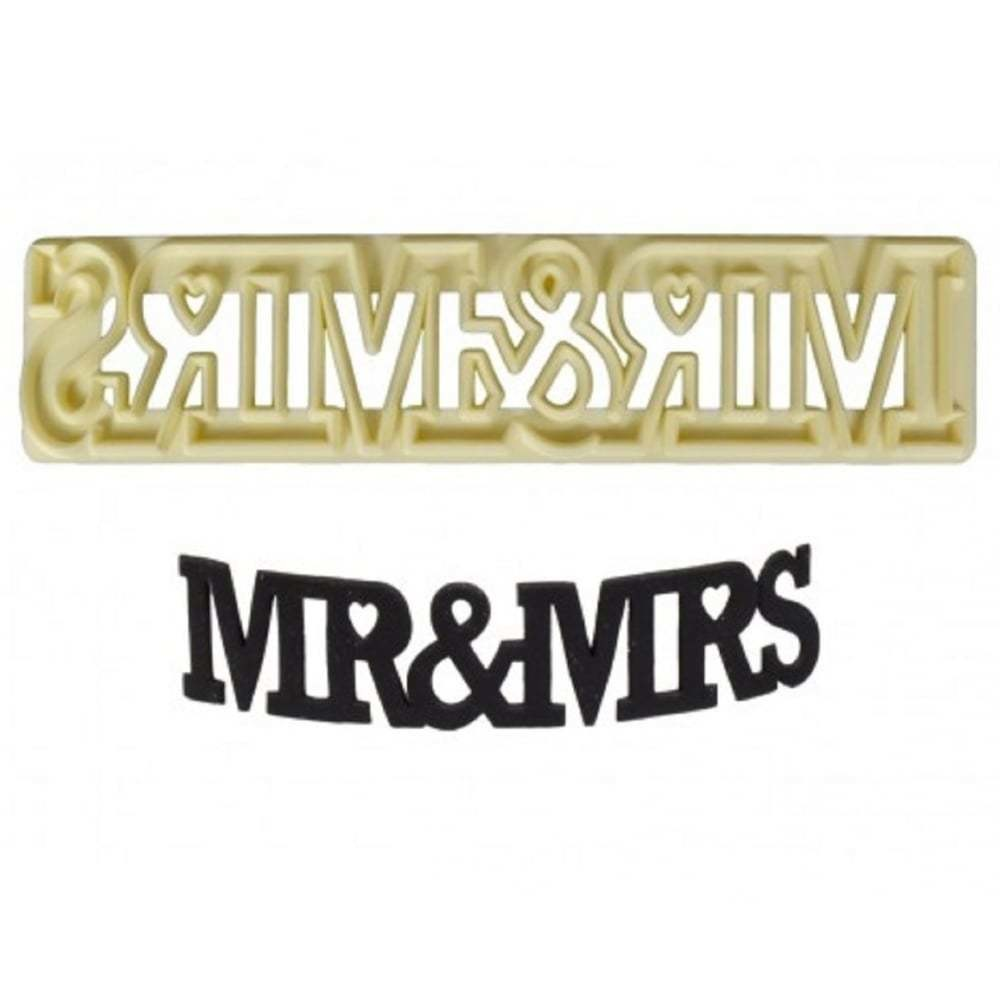 """""""Mr. & Mrs."""" Curved Word Cutter"""