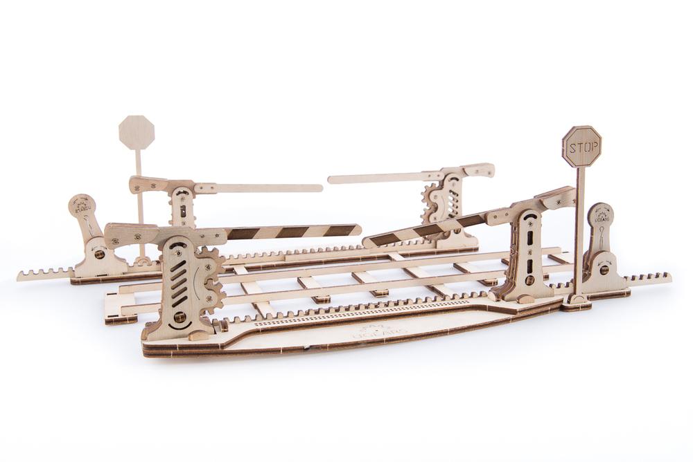 Конструктор 3D-пазл UGEARS Переезд (с рельсами)