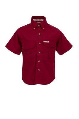 Tiger Hill Childrens Red Fishing Shirt Short Sleeves