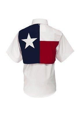 Tiger Hill Childrens Texas Flag Fishing Shirt Short Sleeves