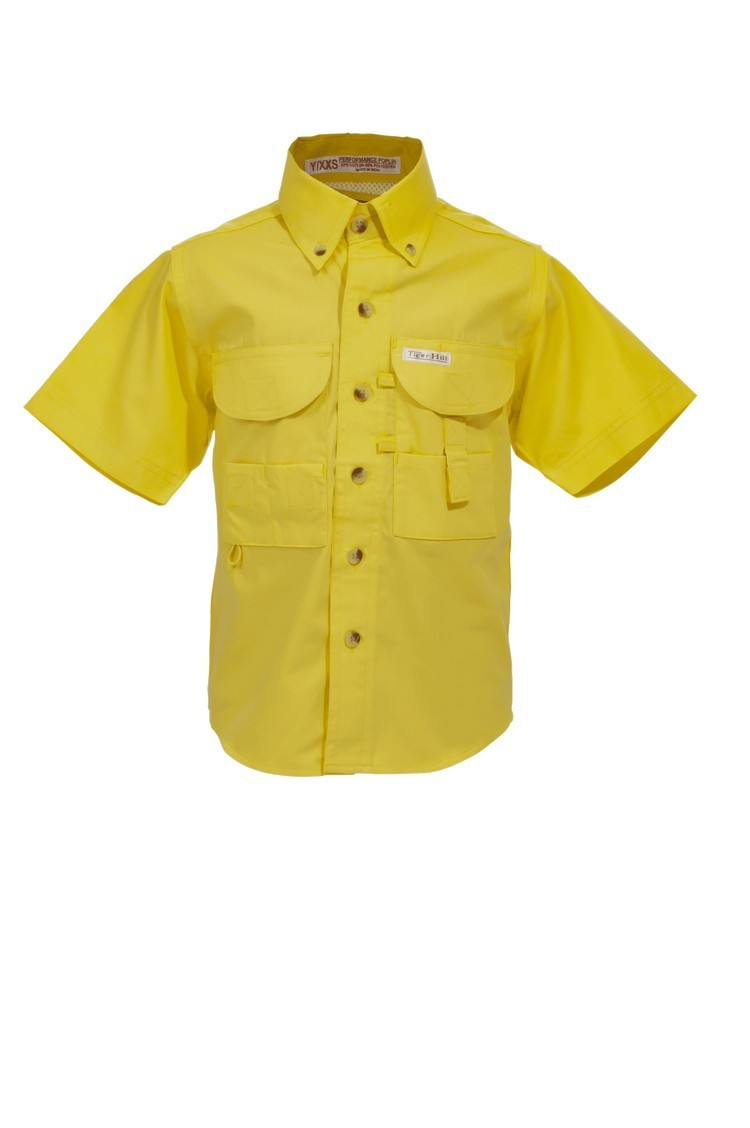 Tiger Hill Childrens Yellow Fishing Shirt Short Sleeves