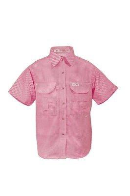 Tiger Hill Girls Gingham Fishing Shirt Short Sleeves