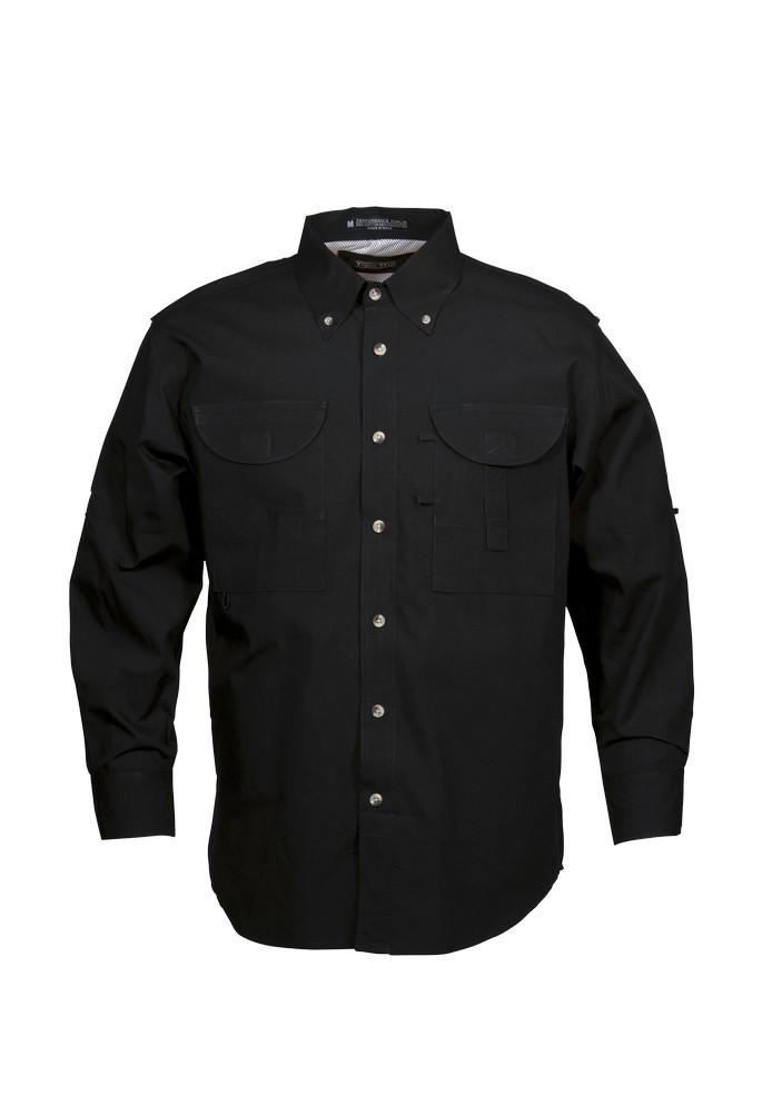 Tiger Hill Men's Fishing Shirt Long Sleeves Black