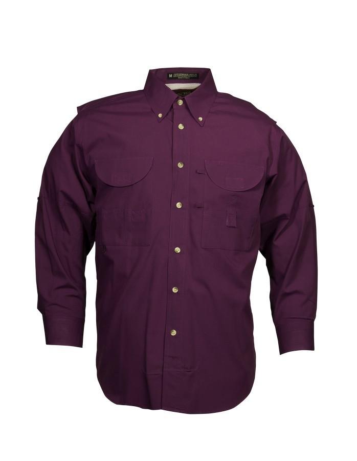 Tiger Hill Men's Fishing Shirt Long Sleeves Maroon