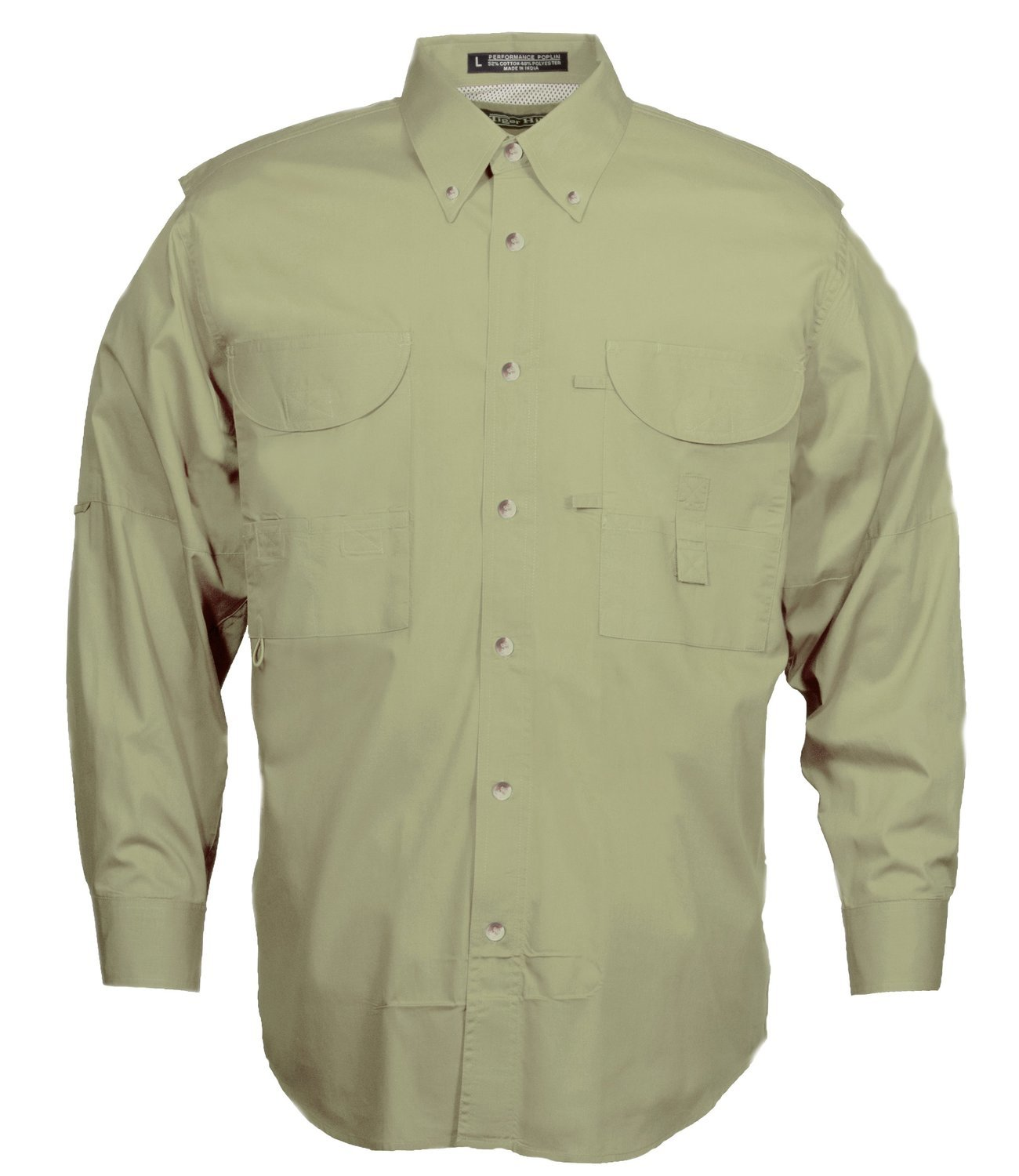 Tiger Hill Men's Fishing Shirt Long Sleeves Sage