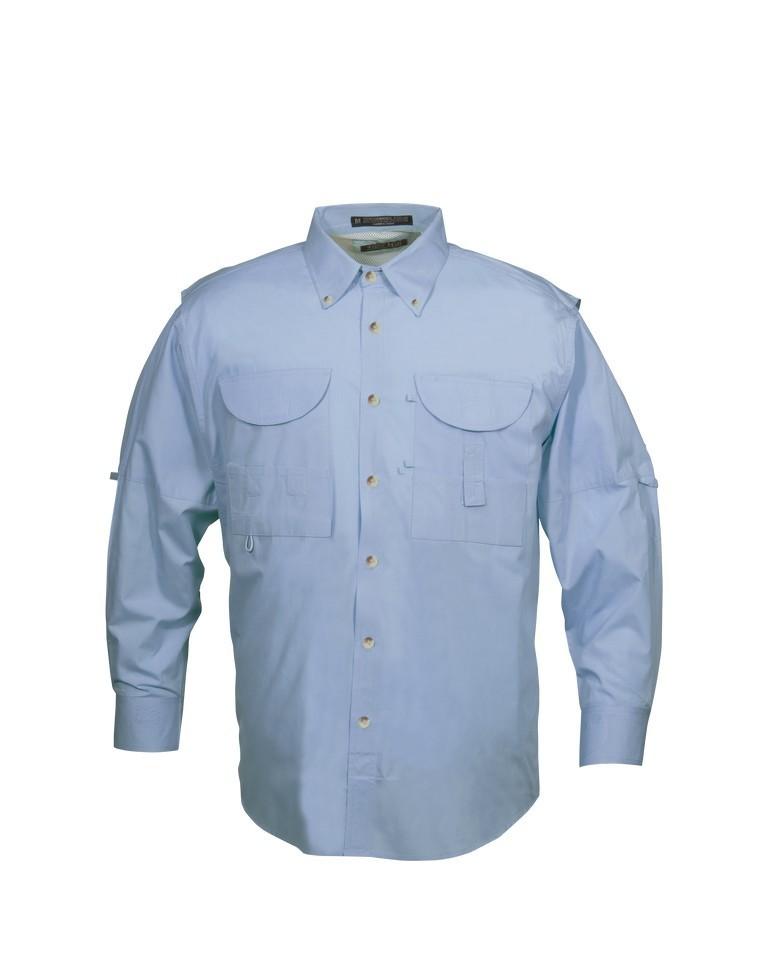Tiger Hill Men's Fishing Shirt Long Sleeves Sky Blue